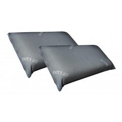Dos almohadas negras viscoelástica 70 Cm Deluxe